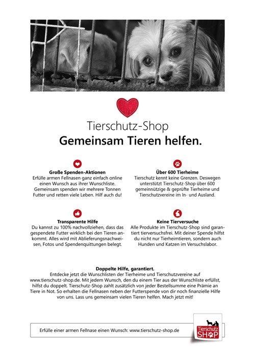 Tierschutz-Shop Flyer selber ausdrucken mitmachen