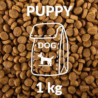 Hunde-Trocken-Futter-puppy-1kg