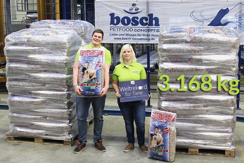 Futterspende-Weltrekord-Bosch-Tierschutzshop