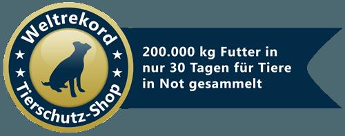 Weltrekord-Tierschutz-Shop-Siegel
