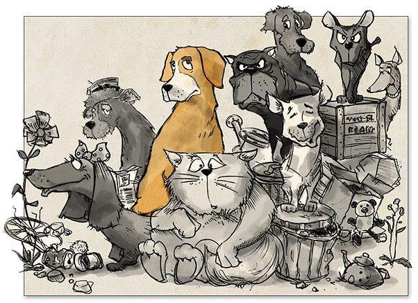 Stolzi-und-seine-Freunde Die-Schlucht-der-freien-Hunde Konstantin Sergienko Tierschutz-Shop