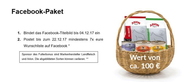 Futterbonus Facebook Paket