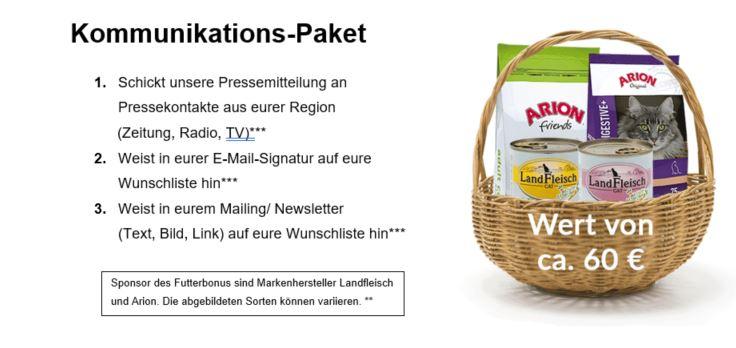 Futterbonus Kommunikations-Paket