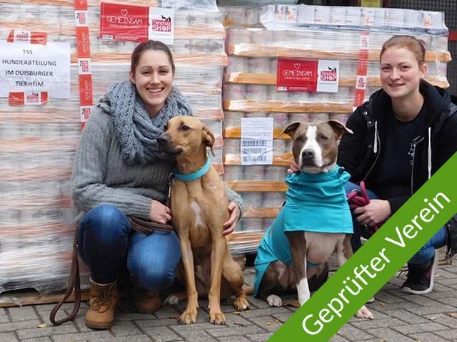 Tierschutz-Shop Transparenz Seriös spenden Sichere Spendenankunft Gerüfter Verein Tierschutzzentrum Duisburg