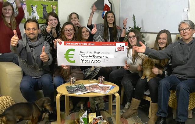 Tierschutz-Shop Transparenz Seriös spenden Sichere Spendenankunft 400.000 Euro Prämie