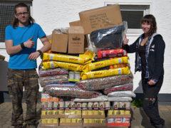Spendenankunft Tierheim Neuwied