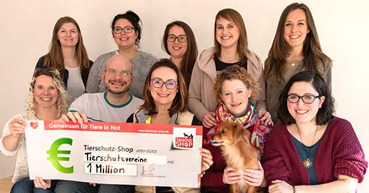 Tierschutz-Shop sammelt 1 Million Euro für den Tierschutz