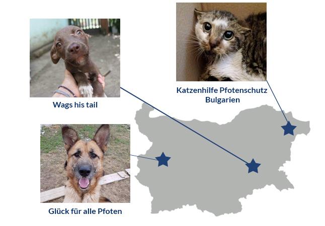 Bulgarienkarte-Spendenmarathon