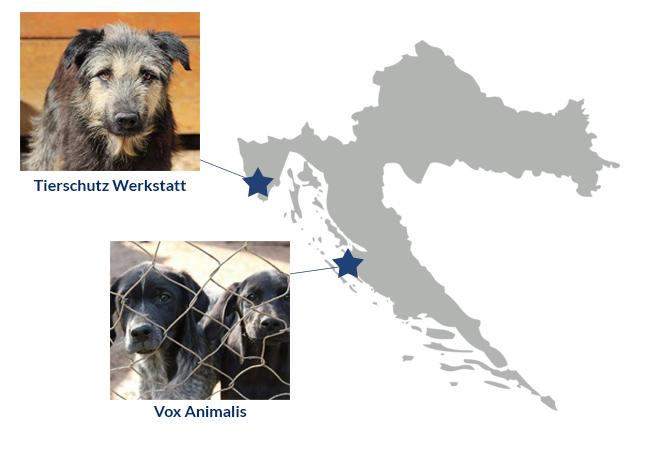 Kroatienkarte-Spendenmarathon