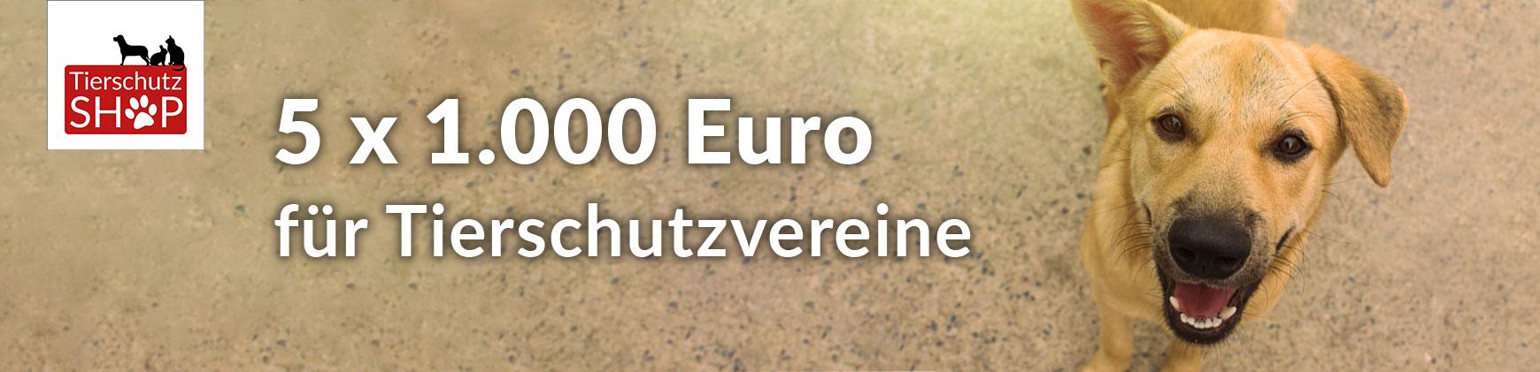 Tierschutz-Shop Abstimmung 5x1.000 Euro für Tierschutzvereine