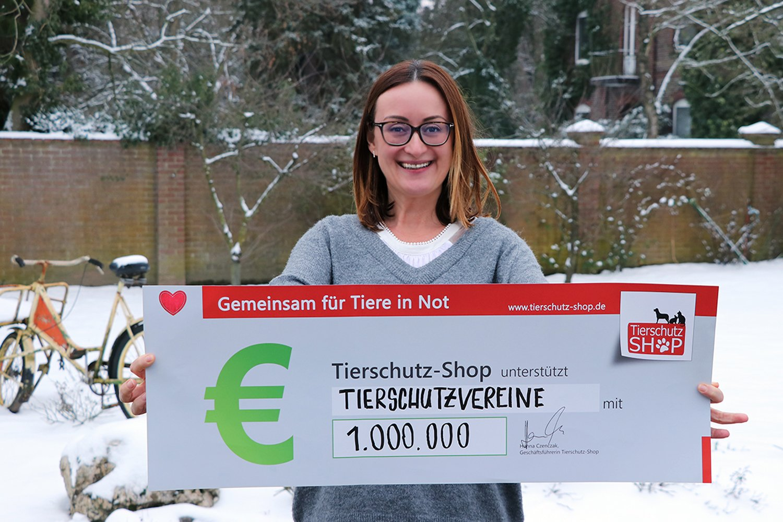 1.000.000 Euro Geld-Prämie von Tierschutz-Shop Tierschutz-Jahr 2018