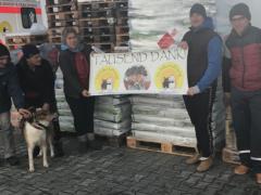 Spendenankunft Tierhilfe Hoffnung 1
