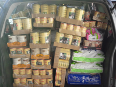 Spendenankunft Tiertafel Jacky's Freunde
