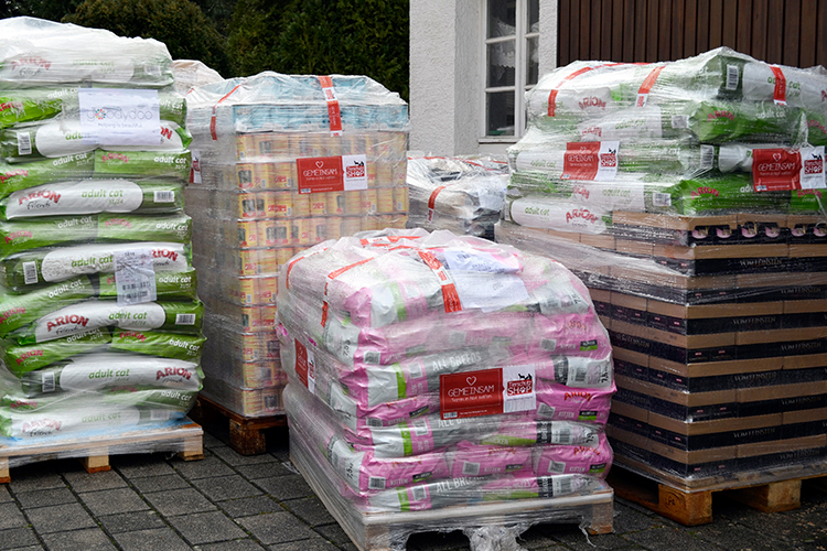 Spendenankunft Spenden-Marathon für Tiere 2018 Katzenhilfe Karlsruhe e.V.