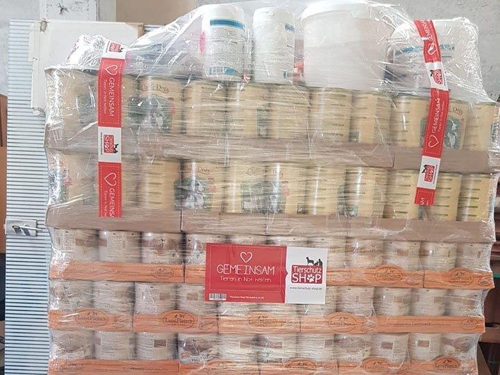 TierOase ThoMa e.V. -Futterspendenankunft-september 2019-WL-Rumänien (2)