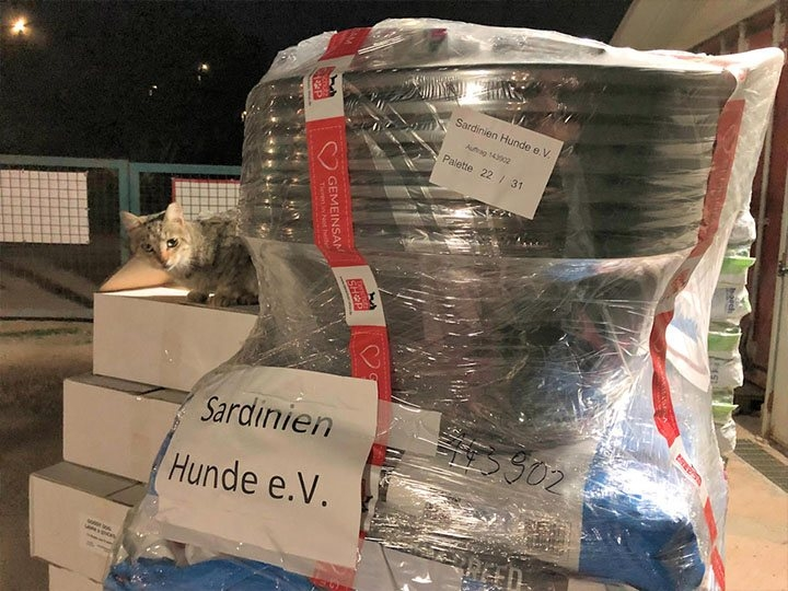 Sardinienhunde e.V. -Futterspendenankunft-oktober 2019-Spendenaktion Tödliches Sommerloch-Italien (2)