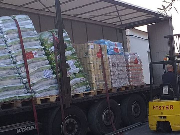 Tierhilfe Phönix e.V. -Futterspendenankunft-oktober 2019-WL-Spanien (1)