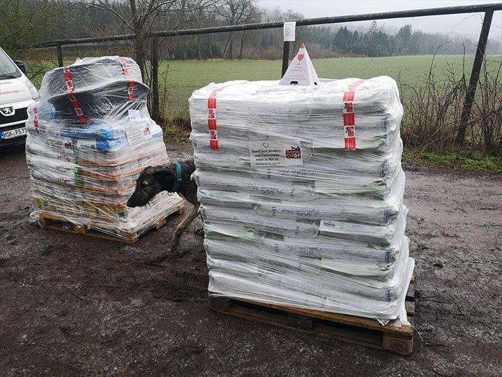 Pfotenhilfe Sauerland -Futterspendenankunft-maerz-2020-WL-Deutschland (1)