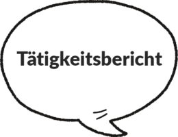 Taetigkeitsbericht-Sprechblase
